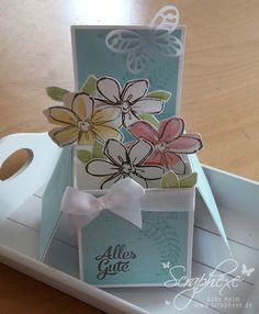 """Scraphexe: Card in a Box: Set """"Garden in Bloom"""" +  """" Awesomely Artistic"""", mit Link auf ausführliche Beschreibung"""