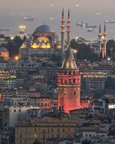 [New] The 10 Best Travel Ideas Today (with Pictures) - Galata Tower view Istanbul Turkey Photo: Congrats TAG your BEST friends Istanbul Tours, Istanbul City, Istanbul Travel, Wonderful Places, Beautiful Places, Turkish Architecture, Architecture Design, Beautiful Mosques, Destinations