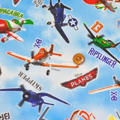 Disney movies planes  fabric  one yard op Etsy, 18,53€ $24.90! Ridiculous