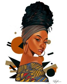 Black Art Painting, Black Artwork, Afro Painting, Black Love Art, Black Girl Art, Afrique Art, Black Girl Cartoon, Natural Hair Art, Black Art Pictures