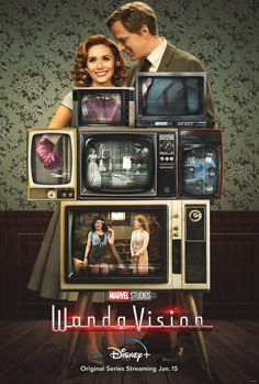 Install Best Wanda Maximoff App. #WandaMaximoff #MCU #Vision Paul Bettany, Disney Marvel, Series Da Marvel, Films Marvel, Poster Marvel, Kat Dennings, Elizabeth Olsen, Disney Plus, Walt Disney