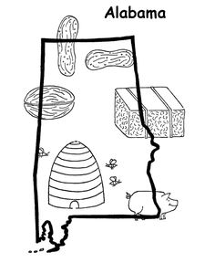 alabama state coloring page