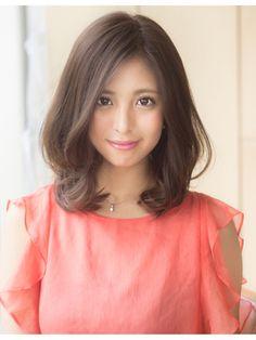 AFLOAT 鈴木司『まとまりやすい!ひし形ミディアムヘア』 - 24時間いつでもWEB予約OK!ヘアスタイル10万点以上掲載!お気に入りの髪型、人気のヘアスタイルを探すならKirei Style[キレイスタイル]で。 Kawaii Hairstyles, Permed Hairstyles, Straight Hairstyles, Girl Hairstyles, Korean Hairstyle Medium Round Faces, Medium Long Hair, Medium Hair Styles, Short Hair Styles, Asian Hair