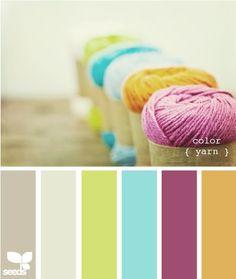 great color palette! For living room/ Dinning room.