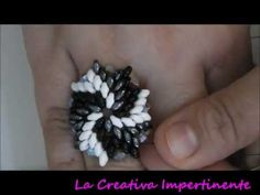 DIY beads ring - tutorial anello superduo e twin - YouTube