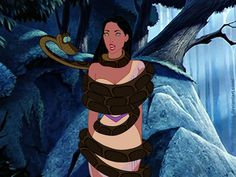 """""""Kaa and Pocahontas."""" Posted on buzzfeed.com (image credit FitzOblon) by The Uniblogger."""
