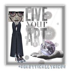 """Live Art 🌐🌎"" by beautyinallthings ❤ liked on Polyvore featuring Komar, Harry Allen, Cushnie Et Ochs, BCBGMAXAZRIA, Lauren Ralph Lauren, iCanvas and Kikkerland"