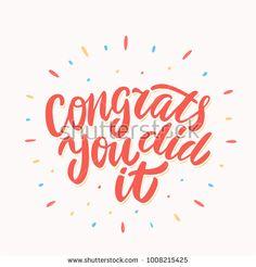 Congrats, you did It! Congratulations card.