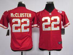 Kids Nike NFL Kansas City Chiefs #22 Dexter McCluster Red Jerseys