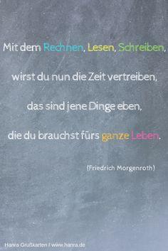 Die 20 besten Sprüche für die Karte zur Einschulung findest du im Grußkartenblog unter blog.hanra.de. Karten zur Einschulung unter www.hanra.de