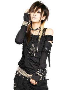 """visual kei - look for the Anime Emo Punk Tech Movement of 2054 in book series, """"The Biodome Chronicles"""" by Jesikah Sundin (see board for """"Legacy"""", """"Elements"""" and """"Gamemaster"""")"""