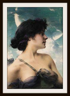 Paul Francois Quinsac (1858-1932). A Beauty in Violet