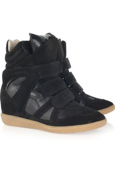 Isabel Marant's  Bekket high-top suede sneakers worn in Beyonce's Love on Top video.