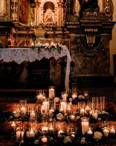 30 Bright Ideas Of Wedding Ceremony Decorations ❤ wedding ceremony decorations winter candles #weddingforward #wedding #bride