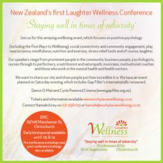 New Zealand First Laughter Wellness Conference, #Christchurch.  DrumRoll ... and the beat goes out.... Issue 19  Sent Monday 18th August. http://conta.cc/1pUN4bq #DrumRoll #Promotions #HannahAirey #laughter #PatArmitstead #WorkPlaceWellbeing #Wellbeing