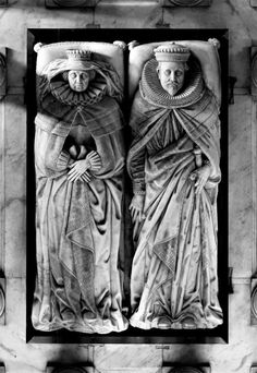 via C B Newham @cbnewham   Chipping Campden, Gloucestershire. Monument to Baptist Hicks, 1st Viscount Campden (d.1629) & Elizabeth his wife.