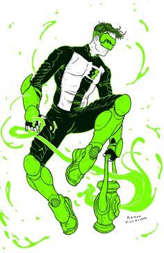 Kyle Rayner by Ramon Villalobos Green Lantern Kyle Rayner, Green Lantern Hal Jordan, Green Lantern Corps, Comic Character, Character Design, Green Lantern Sinestro, White Lanterns, Dc Comics Art, Batman And Superman
