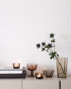 Styling with news from Iittala — Studio Anu Reinson Leaf Drawing, Alvar Aalto, Organic Shapes, Earthy, Tea Lights, Most Beautiful, Planter Pots, Candle Holders, Minimalist