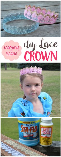 These DIY lace crowns made out of stiffened lace are SO fun to design and easy to make!