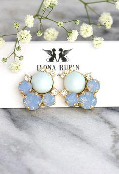 Blue Earrings Blue Sky Earrings Bridal Powder Blue Earrings