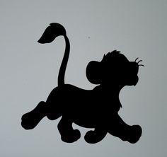 Simba Lion King Silhouette Wall Vinyl Sticker Retro Cartoon Decal Nursery Home Interior Kids Children Room Decor Removable Mural Lion King Party, Lion King Birthday, Lion King Simba, Disney Lion King, Baby Simba, Silhouette Lion, Lion King Drawings, Lion King Cakes, Retro Cartoons