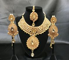 Our beautiful Kundan Bridal jewelry set available now on our shop!