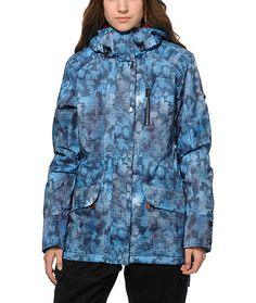 A street inspired look gets a technical update with this denim print snowboard jacket that features a DryFlight waterproof exterior and 3M Thinsulate insulation that will keep you warm and dry even in the higher altitudes.