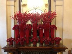 Lush display in our hotel lobby using Liberty Amaryllis and red ilex berry Christmas Flower Arrangements, Vase Arrangements, Christmas Flowers, Noel Christmas, Rustic Christmas, Centerpieces, Unique Flowers, Red Flowers, Beautiful Flowers