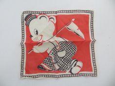 Vintage Childs Hanky-Handkerchief-Tom by FleaMarketFloozie on Etsy