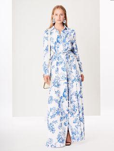 824108bbe0 Floral Toile Stretch-Silk Georgette Caftan