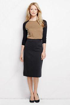 Lands' End Women's Ponté Pencil Skirt on shopstyle.com