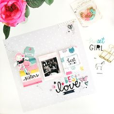 Best friends layout using Cute Girl by Crate Paper