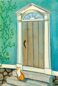 Kitty by the door - Nicole Wong