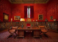 JP Morgans vivid red office in New York Citys beautiful Morgan Library. If you havent been to The Morgan - the library and museum and just stunning. This is just a small piece of Morgans gift to Manhattan.   #travel #photooftheday #travelphotography #library #themorganlibrary #newyork #newyorkcity #manhattan #vacation #office #instatravel #red #desk by scottkelby http://ift.tt/1XW9MSr