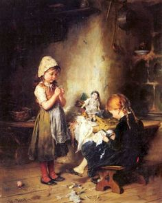 The Young Seamstresses-Heinrich Hirt (1841 – 1902, German)