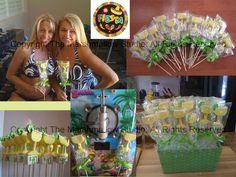 Fiesta Margarita Pops as favors #marshmallows #pops #favors #margaritas #fiesta #cincodemayo