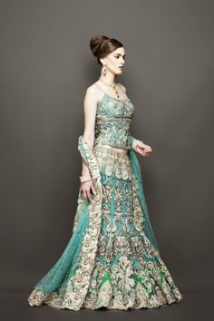silver wedding dresses 2014 | Exclusive Handcrafted Bridal and Wedding Lehengas 2014