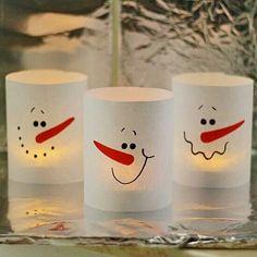 30min paper snowman lanterns