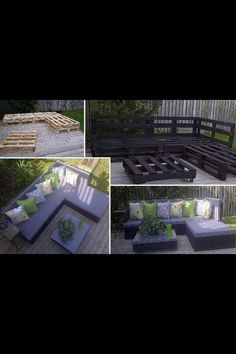 Great cheap and easy patio furniture! From www.awesomeinventions.com