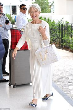 Feeling all-white: Following suit was Helen Mirren, who proved to have completely recovere...