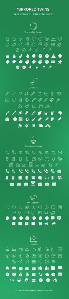 Today I am honoured to present Mirrored Twins,an awesome exclusive freebie by PixelKit. It is a set of 104 free PSD iconscovering 5 big ca...