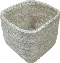 DISHA - This square shaped jute storage basket is perfect for sorting out all the small bits & pieces around the place like socks, small toys, scarves, toiletries, hairdryer ....the possibilities are endless. Dimensions:- 15cm x 15cm and Height 15cm.