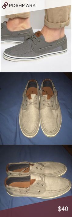 Aldo Men's gray boat shoes. Size 12 Great condition! Only worn twice Aldo Shoes Boat Shoes