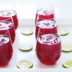 Pomegranate mojitos.  Made these for our Christmas party.  Fun and yum!