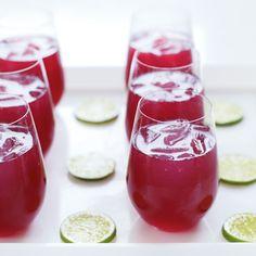 Pomegranate mojitos.  Make these for a Christmas party. #indigo #magicalholiday