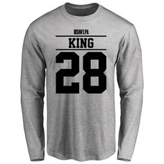 Akeem King Player Issued Long Sleeve T-Shirt - Ash