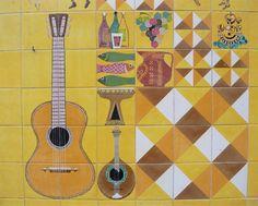 Lisbon tile wall