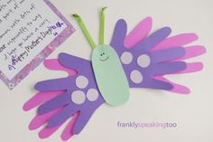 Cute butterflies for spring bulletin board or Mother's Day craft!
