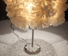 Floral Lamps - can be used for weddings, events, or even your home. Pretty genius if you ask me