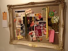 vision board.  Great idea for fabric covered bulletin board